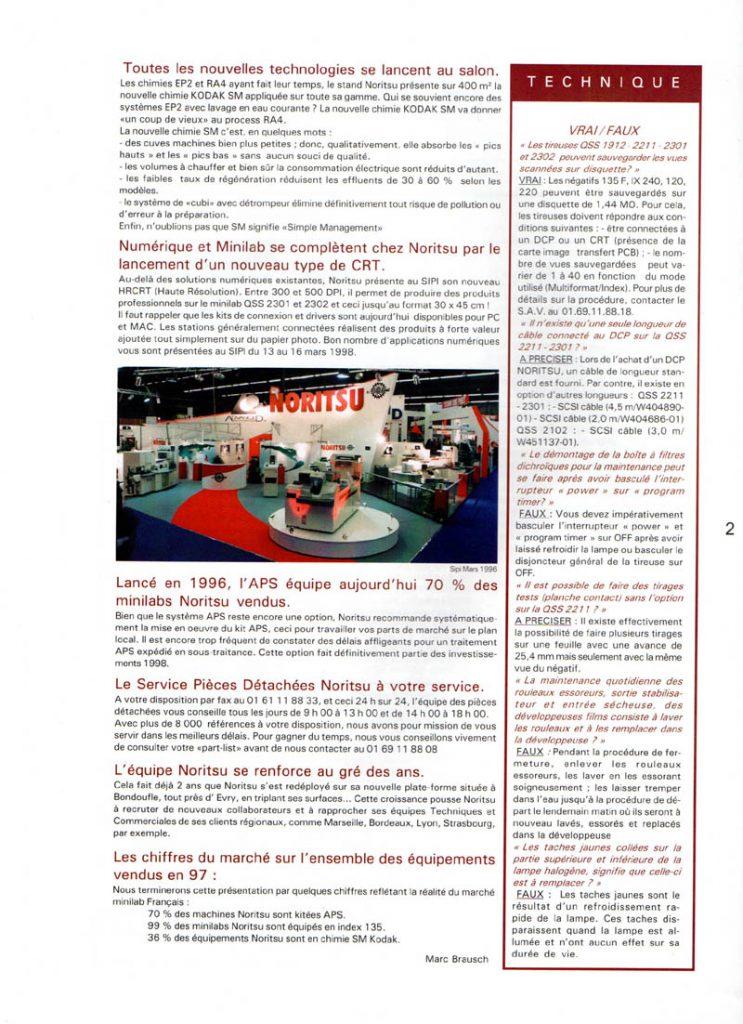 Newsletter Noritsu Info Page 2