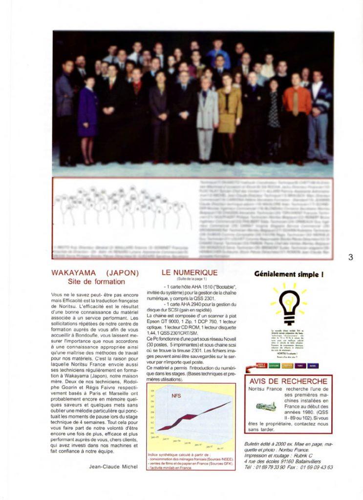 Newsletter Noritsu Info Page 3