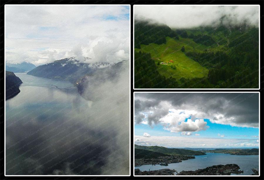 Photo paysage utiliser les événements climatiques