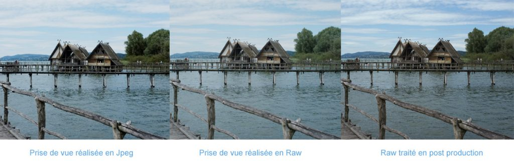 Comparatif entre photo Jpeg et Raw