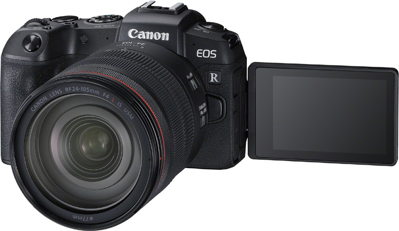 Canon EOS RP_FrontSlantLeft_RF24-105mm F4