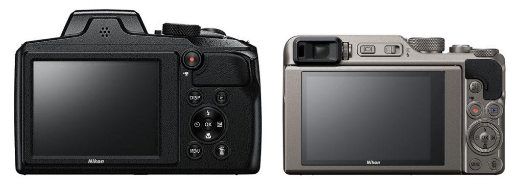 Ecrans du Nikon b600 et a1000