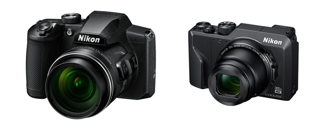 Nikon compact b600 et bridge a1000