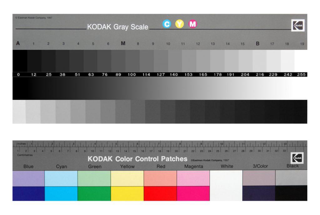 Mire Kodal permettant le calibrage d'un imprimante Epson P400